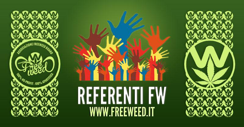 Iscrizione Refenti Locali Progetto FreeWeed