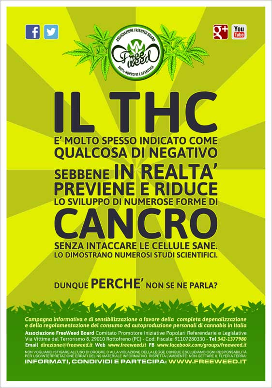 Cannabis VS Cancro - Volantino A4 a colori - 03
