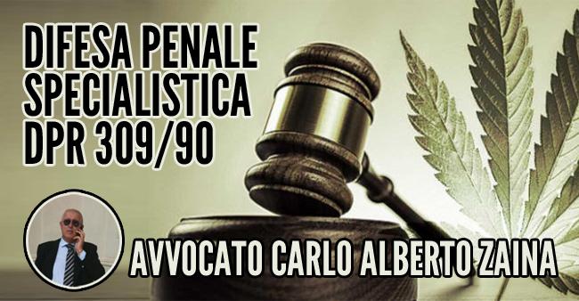 Avvocato Carlo Alberto Zaina - Convenzione di consulenza e difesa penale specialista dpr 309/90