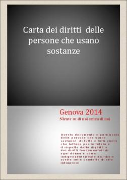 Carta dei diritti delle persone che usano sostanze - Genova 2014: scarica in formato PDF