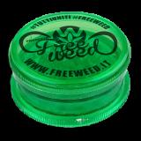 Tobacco grinder Progetto FreeWeed, Diametro 6 cm, in plastica, 3 parti, con magnete! Rosso