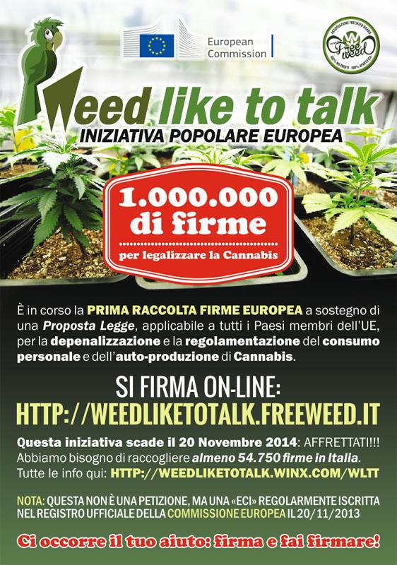 Weed Like To Talk - European Citizen's Initiative - Legalizzazione Cannabis
