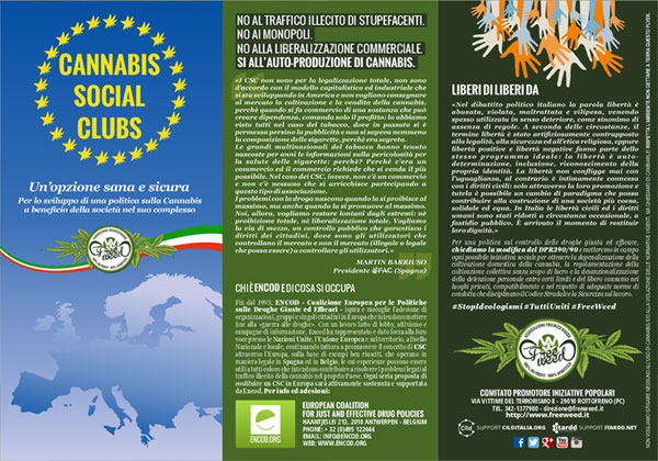 Campagna informativa Cannabis Social Club - Volantino FreeWeed