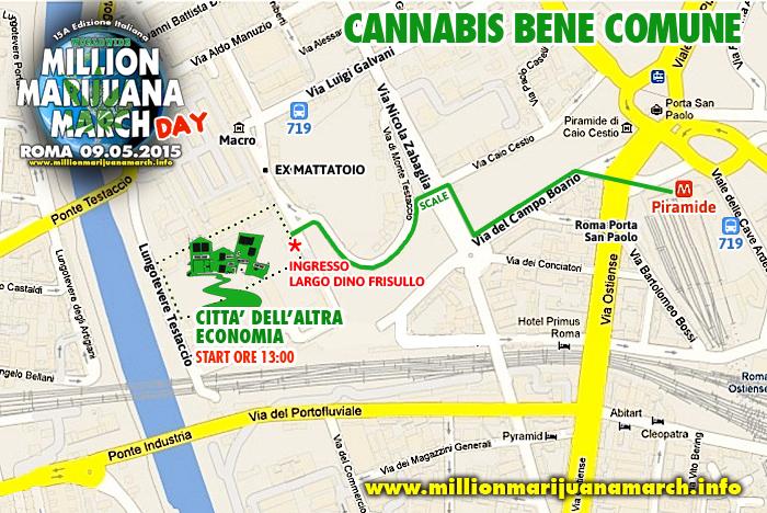 """15A Edizione Million Marijuana March Italia - Roma, presso la """"Città dell'Altra Economia"""""""