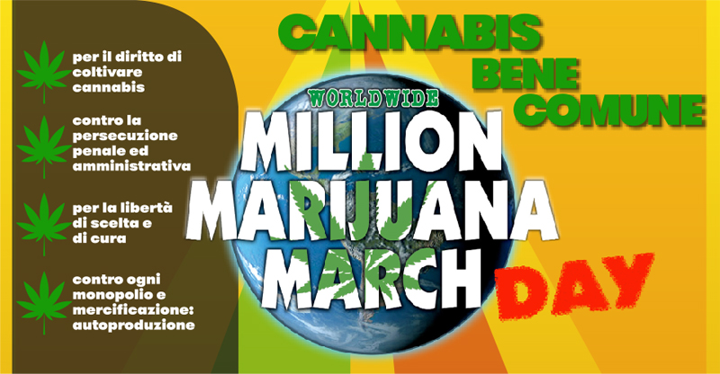 Million Marijuana March Italia - Roma, Sabato 9 Maggio 2015