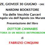 """Presentazione del libro """"Dr. Cannabis"""" di Fabrizio Cinquini"""