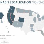 La Mappa Americana dopo i Referendum per la Cannabis