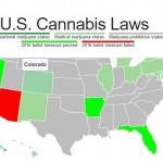 La Nuova Mappa Interattiva delle leggi sulla Cannabis in Usa