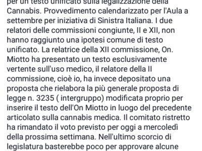 """A fine luglio avremo il testo definitivo del DDL """"Cannabis Legale"""""""
