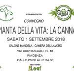 Convegno La Pianta della Vita: La Cannabis – Scaletta dell'Evento di Piacenza