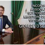 Incontro con il Sottosegretario al Ministero della Giustizia Vittorio Ferraresi